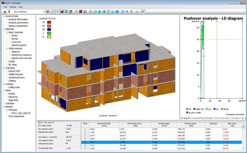 Amquake earthquake seismic masonry design software Building design software